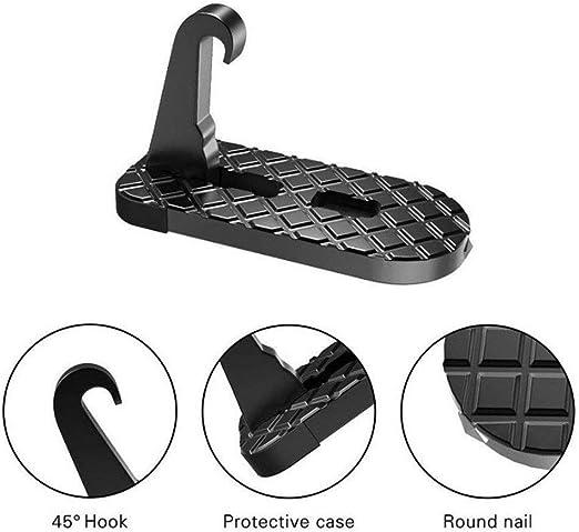 hgjhgkljhk Pedal de Techo para Coche Escalones de pie de Escalera Plegable para Coche con Martillo de Seguridad para emergencias Fácil Acceso a Techo de Coche: Amazon.es: Hogar