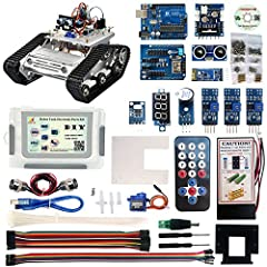 Name:Robot Car Electronics Parts Kit for Arduino                Note: If you want a complete arduino robot tank car as the picture, please buy the tank chassis TR300 kit and robot car electronic parts kit.              Feature: Ingenio...