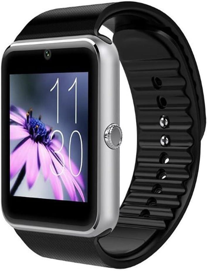 Reloj inteligente, GT08Bluetooth Reloj inteligente con ranura para tarjeta SIM y NFC Smart salud reloj para Android (Full funciones) y iOS (funciones parcial) pulsera Smartwatch