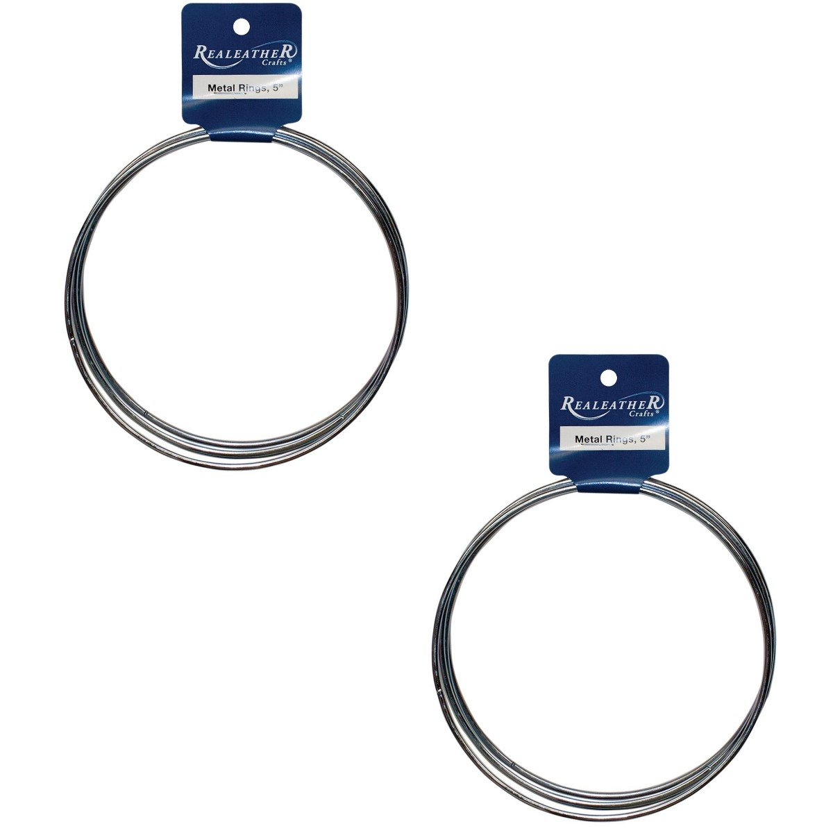 Realeather Crafts Zinc Metal Rings, 5-Inch, 8 Rings (2 Packs of 4 Rings Each)