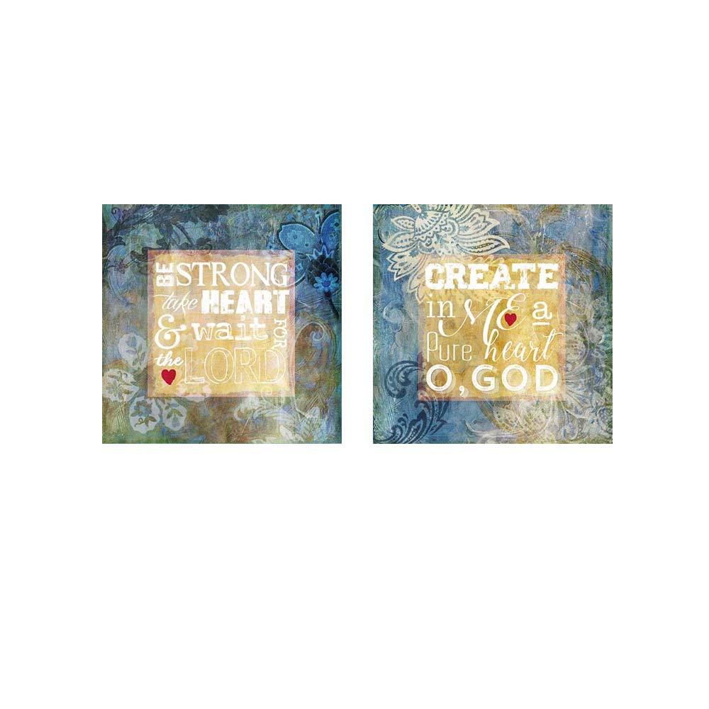 Amazon com: Heart Psalm by Art Licensing Studio, 2 Piece Art