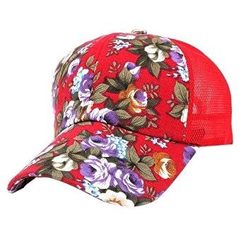 ZHRUI Liquidación Gorra de béisbol, bordado de verano Gorra de flores Sombreros para mujeres,