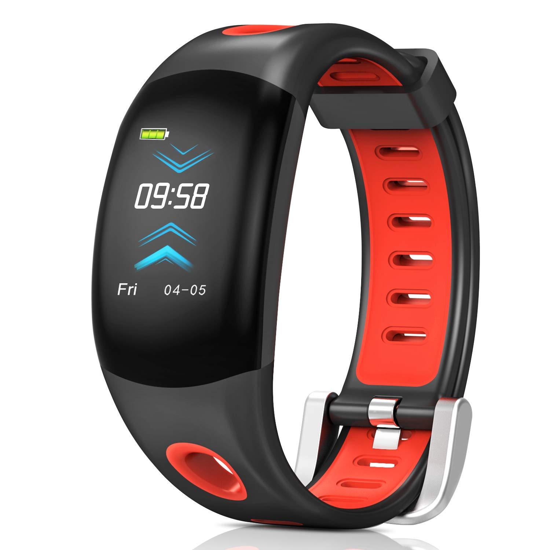 Fitness Tracker,Bluetooth Wasserdicht Fitness Armband 3D Farbdisplay mit Pulsmesser Herzfrequenzmesser,Aktivitätstracker,Schrittzähler,Schlaf Monitor,Kalorienzähler für Android und IOS Smartphones TIANCATQIU