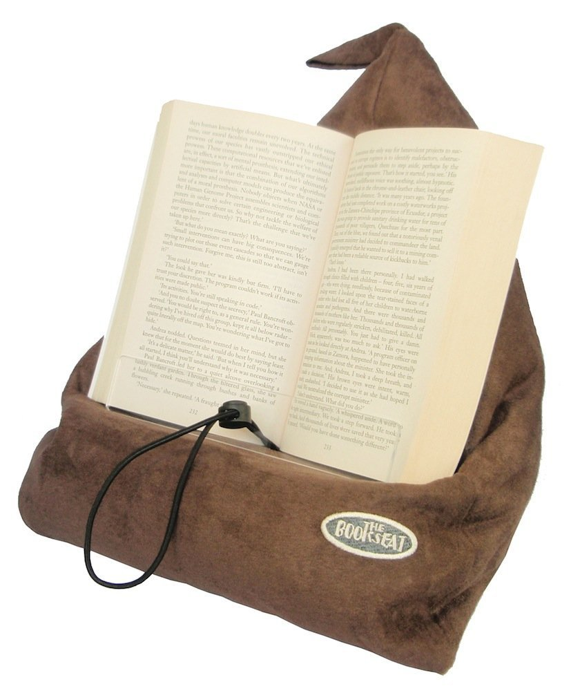 The Book Seat - Book Holder and Travel Pillow - Mocha BS01.Mocha