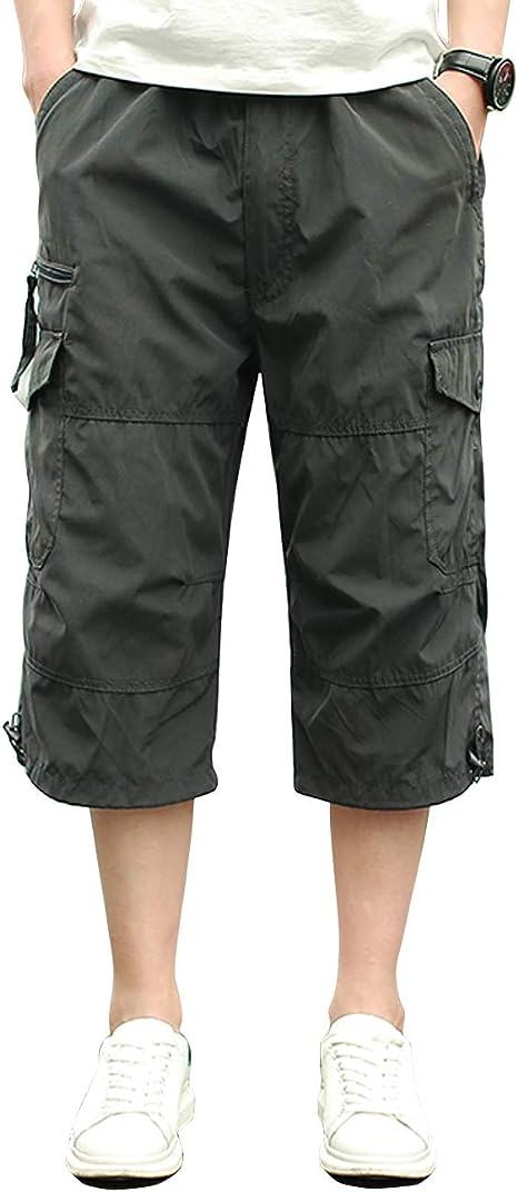 Homme Shorts Cargo Pantacourt Coton Multi