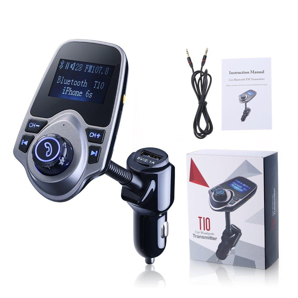 Transmisor FM Bluetooth de VicTsing Manos Libres Cargador con Audio de 3.5mm por solo 17,99€