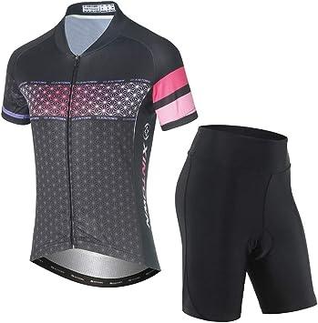 TZTED Maillot Ciclismo Mujer Cclismo Conjunto de Ropa con Culotte ...