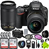 Nikon D5600 DSLR Camera with Nikon 18-55mm f/3.5-5.6G Lens and Nikon 70-300mm Lens 2 Lenses Combo