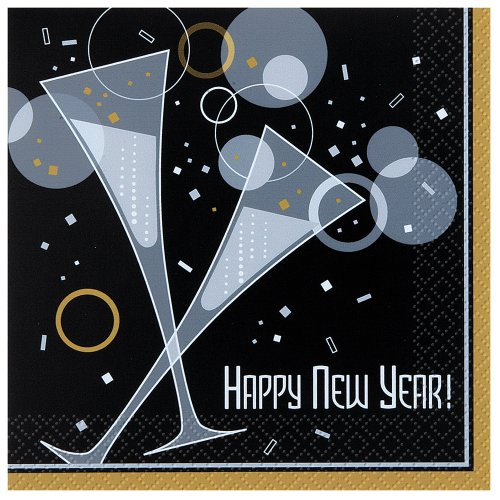 Bubbly New Year Luncheon Napkins, 16ct