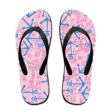 22c097dec0ac Amazon.com  Customized Casual Slippers-Pink Flamingos With Flowers  Flip-Flops For Man