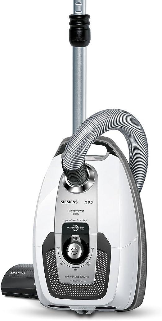 Siemens VSQ8SIL66A Bodenstaubsauger Q 8.0 silencePower EEK A (powerSensor Technology, quattroPower Technology, waschbarer Hochleistungs Hygienefilter)