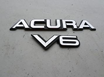 Acura Legend V Rear Trunk Chrome Emblem Badge Symbol Decal - Acura decals