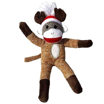 Amazon Com Colorboxcrate Reindeer Sock Monkey Plush 12 Inch