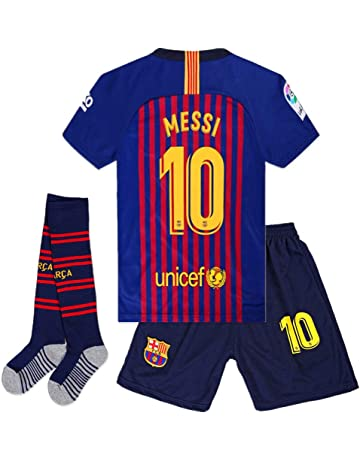 f1a5c9234 Cyllr Barcelona Home Kids Youth 2018-2019 Season  10 Messi Socce Jersey  Matching