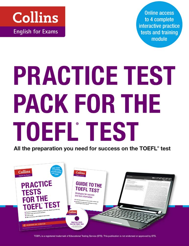 Collins English For The TOEFL Test   Practice Test Pack For The TOEFL Test  Book And CD