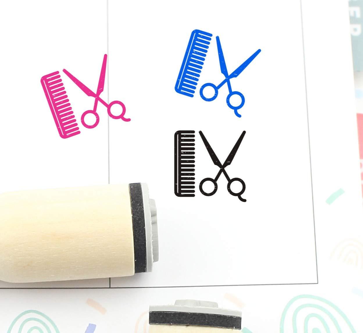 Haircut Stamp S731 16mm Planner Stamp Cute Hair Cut Stamp 20mm Mini Stamps Hair Cut Rubber Stamp