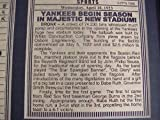 11x14 Framed & Matted New York Yankees Opening Day 1923