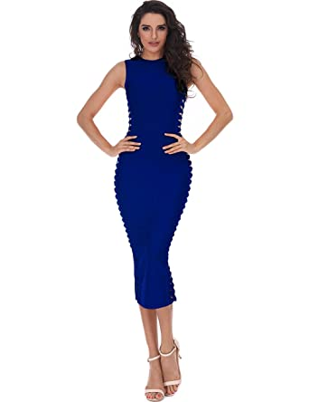 1759607cfd82 Adyce Bandage-Dress-Bodycon High Without Sleeves, Party Club-Dress Sexy  Cocktail Evening Tight Nightdress: Amazon.co.uk: Clothing
