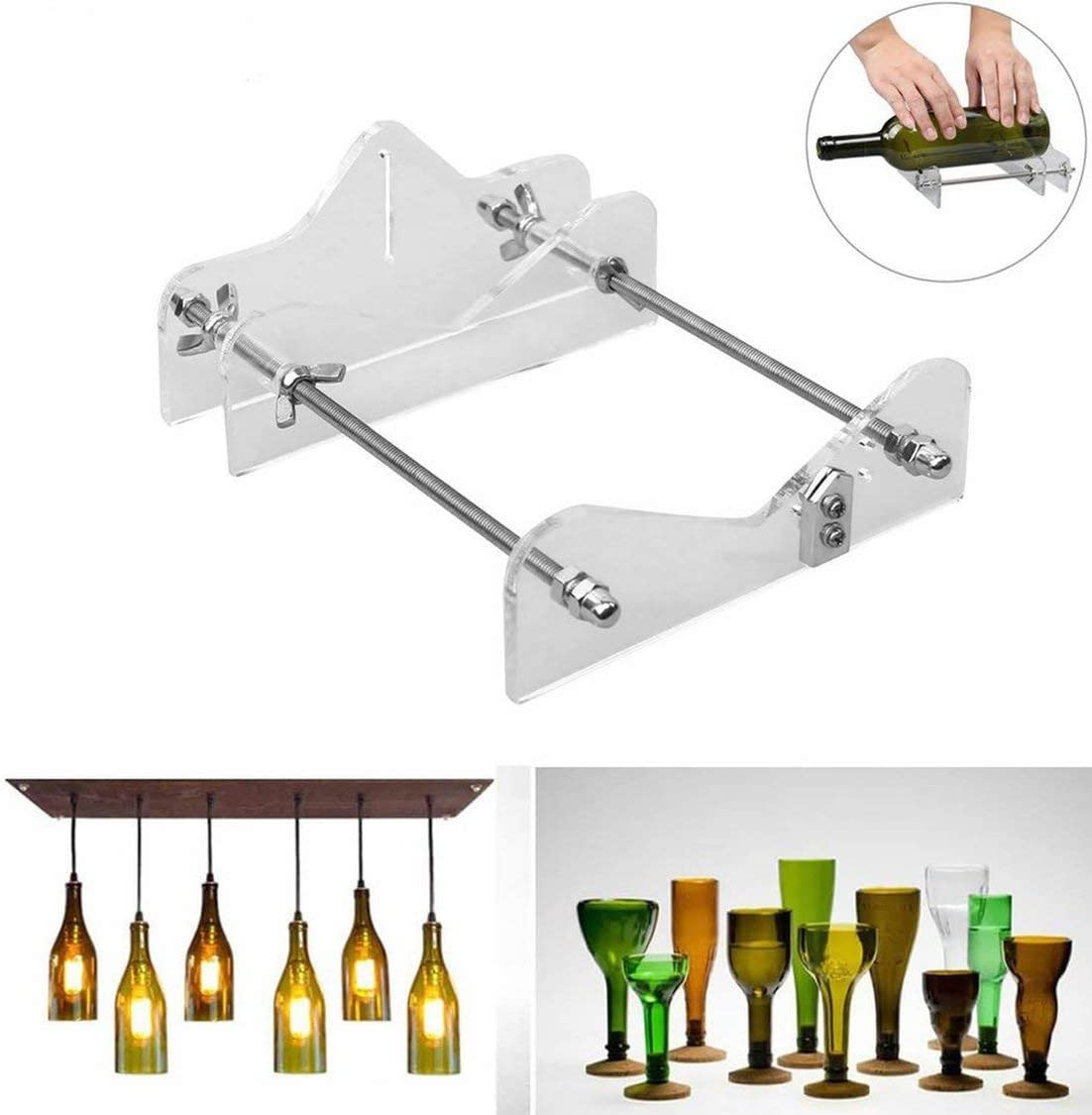 Transparent Glasflaschenschneider-Werkzeug Professionell zum Flaschenschneiden Glasflaschenschneider-Schneidwerkzeuge Maschine Weinbier