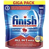 Finish All in 1 Max Pastiglie Lavastoviglie, Limone, 100 Tabs