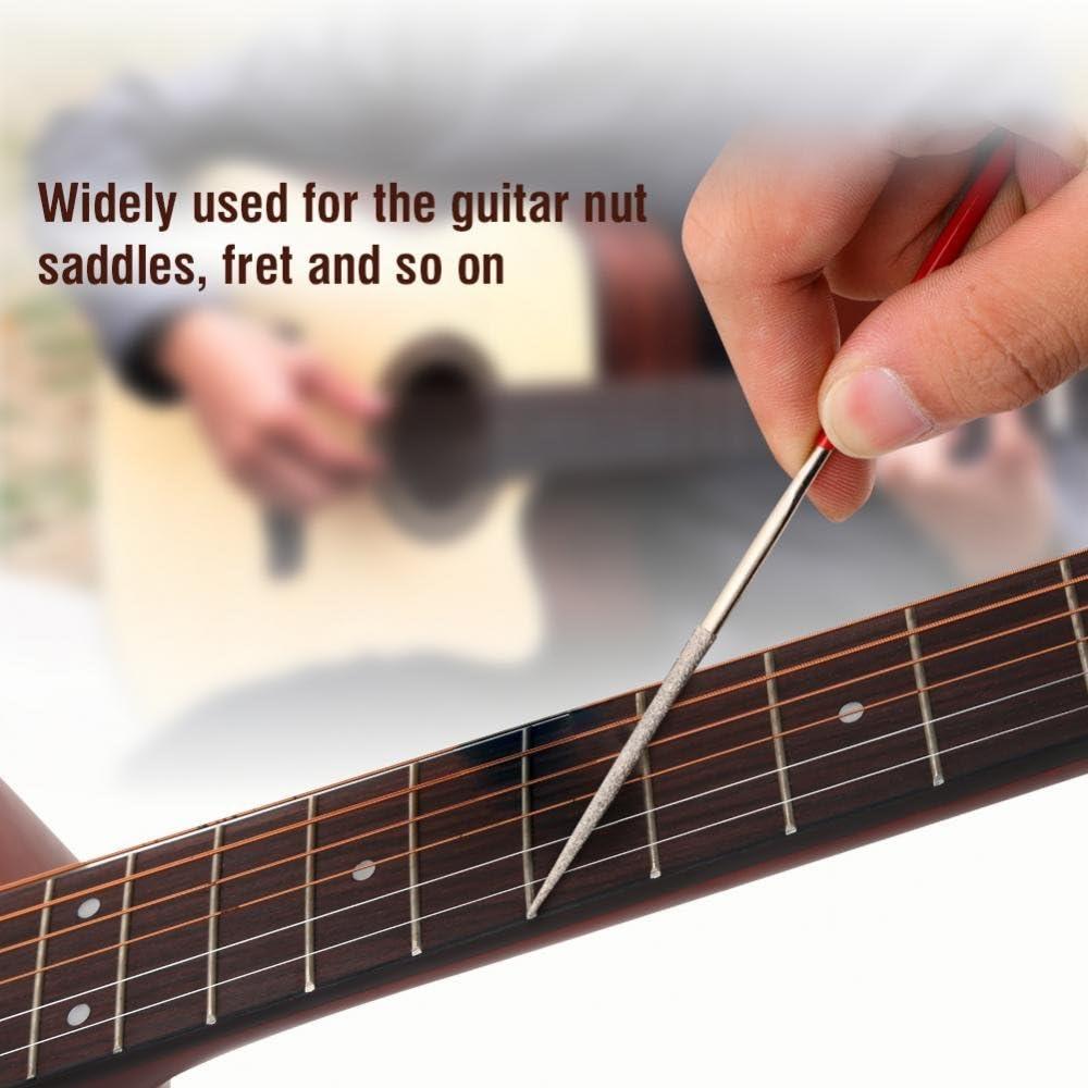 1 Satz Gitarre Datei Fret Nut Sattel Schleifen Set für Gitarre Luthier