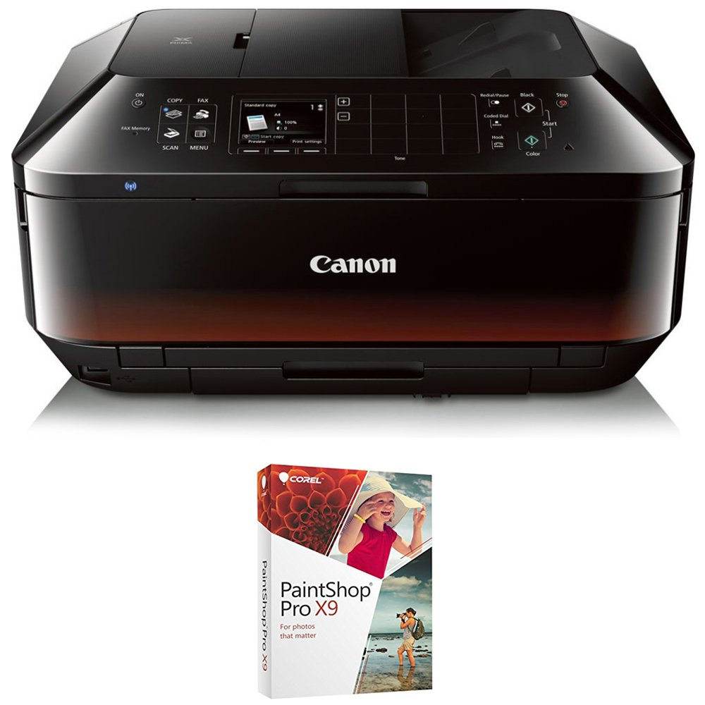 Canon PIXMA MX922 Wireless Inkjet Office All-In-One Printer with Corel PaintShop Pro X9 Bundle