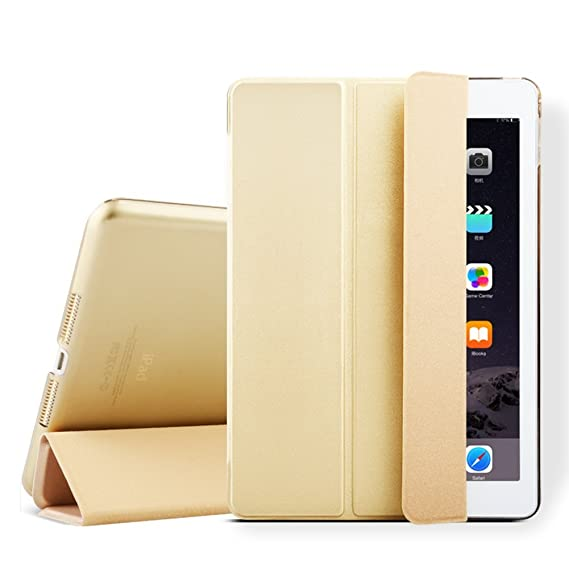 iPad mini Case, iPad mini 2 Cover, Supstar Slim-Fit Folio with Auto Wake/Sleep Smart Stand Magnetic PU Leather Hard Case for Apple iPad mini 1/2/3 - ...
