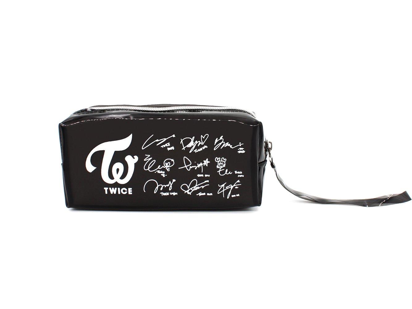 Fanstown BTS KPOP鉛筆ケース+ BTSロゴペンダントwith Signature PVCカード B0795DT94Y Pu-twice Pu-twice