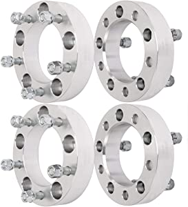 """ECCPP 4X 5x139.7mm Wheel Spacers 5 Lug 1.5"""" 5x5.5 to 5x5.5 fits for Dodge Ram 1500 Van for F-ord Bronco E150 F100 F150 for Je-ep CJ5 (1/2"""" Studs)"""