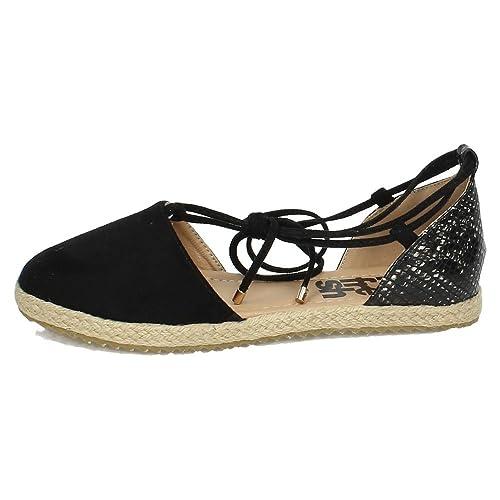 REFRESH 63534 Sandalias DE Esparto Mujer Alpargatas Negro 40: Amazon.es: Zapatos y complementos