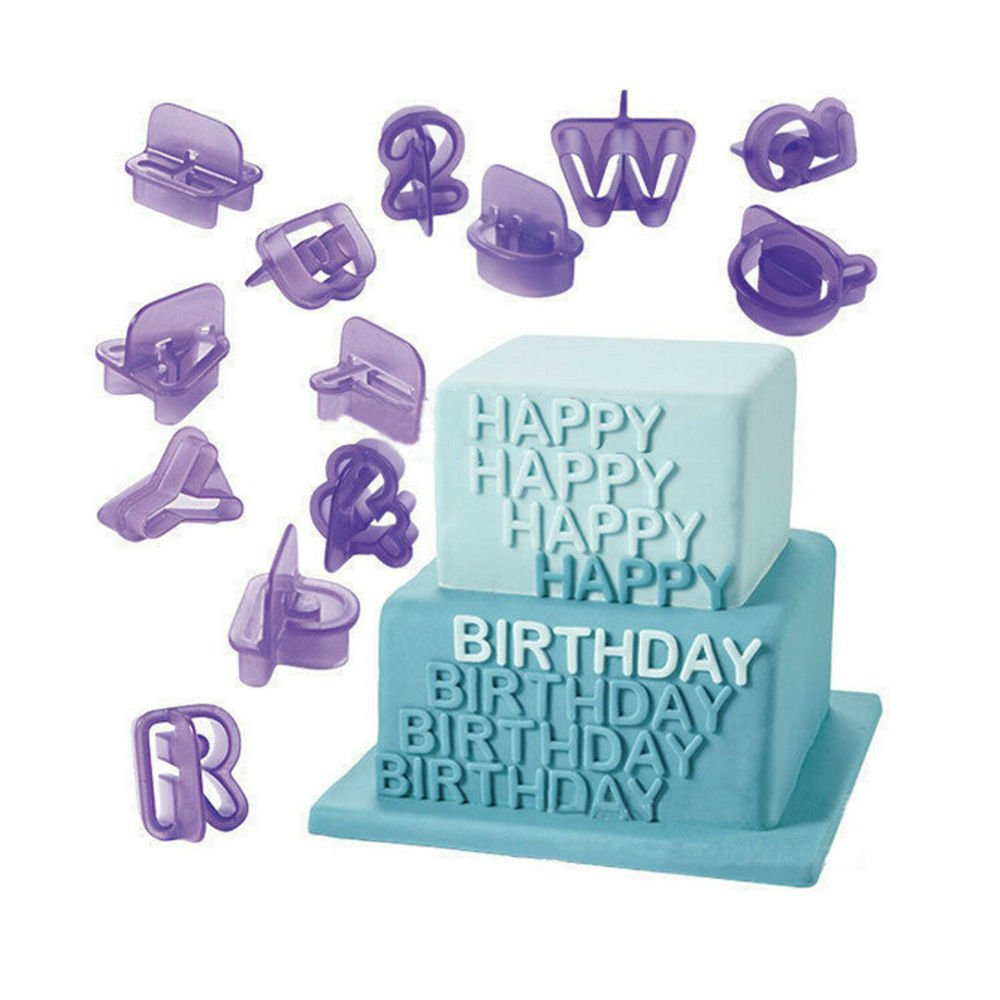 40pcs Alphabet Letter Number Cookie Cutters Fondant Cake Biscuit Baking Mould