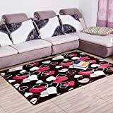 HOMEE Carpet-the Living Room Pad Thickening Coral Fleece Bed Slip Absorbent Mat,Kafeis,50 80Cm,5080Cm,Ai