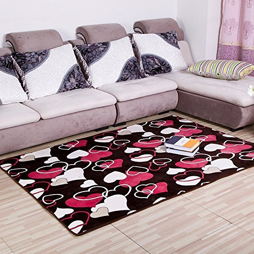 HOMEE Carpet-the Living Room Pad Thickening Coral Fleece Bed Slip Absorbent Mat,Kafeis,50 80Cm,5080Cm,Ai by HOMEE