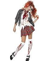 Smiffys Women's High School Horror Zombie Schoolgirl Costume