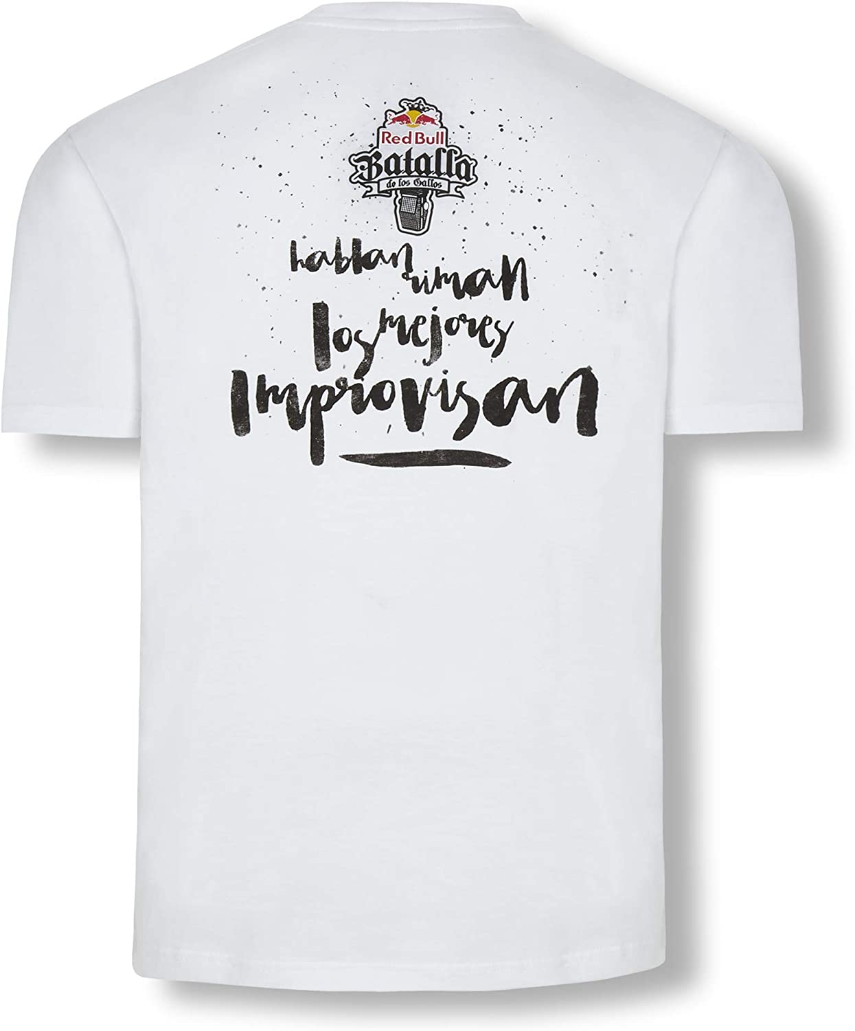 Red Bull Batalla Freestyle Camiseta, Blanco Hombre XX-Large Top ...
