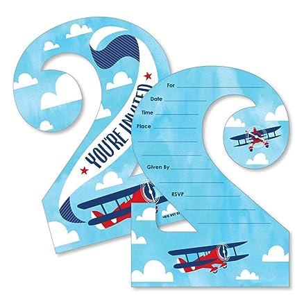 Amazon com: 2nd Birthday Taking Flight - Airplane - Shaped