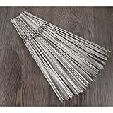 Kaiyu Stainless Steel Flat Sign Thickened Outdoor Barbecue Needle Mutton String Barbecue Checked Steel Check Iron Tool