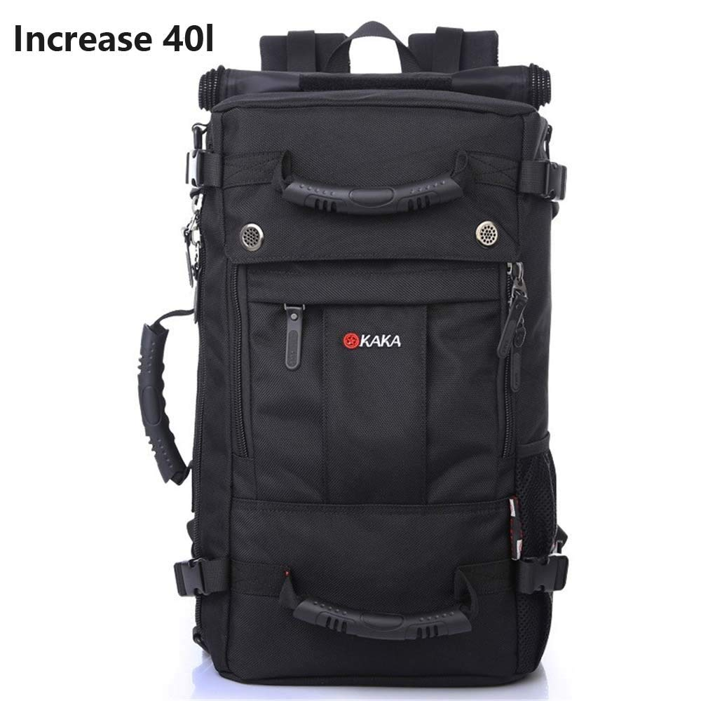 Black Outdoor Large Capacity Casual Backpack ShortDistance Travel Bag Sports and Leisure Backpack (color   Black)