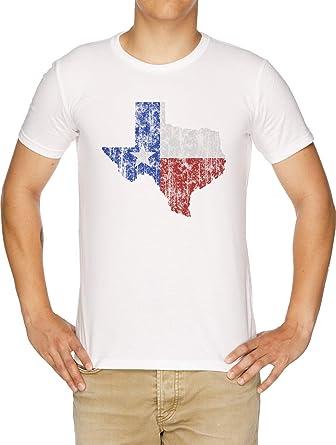 Texas Vendimia Camiseta Hombre Blanco: Amazon.es: Ropa y accesorios