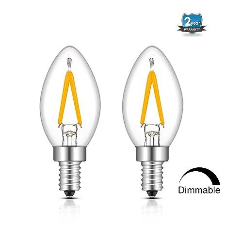 C7 Led Bulb >> 1w Dimmable Led Filament C7 Night Light Bulb 2700k Warm White 150lm 15w Incandescent Replacement E12 Candelabra Base Lamp C7 Mini Torpedo Shape