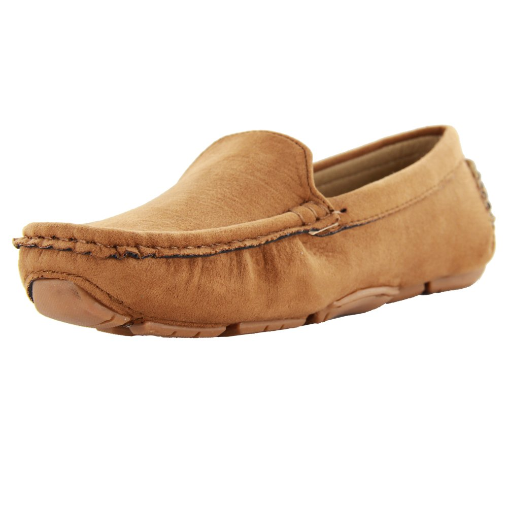 Kid Suede Brown Slip-On Unisex Child Oxford & Loafer,Little Kid,11M US