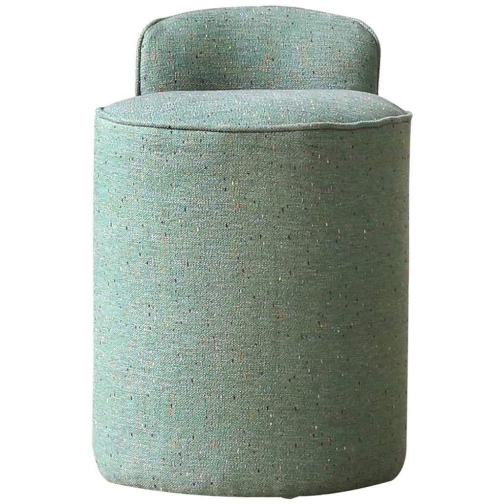 NYDZDM Osmanische Fußhocker Hocker Fußhocker Tritthocker Bambushocker Nordic-Dressing-Hocker Stoff-Make-up-Hocker Schminktisch Hocker Make-up-Stuhl Schlichter moderner Dressing-Stuhl (Color : Green)
