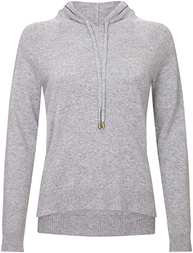 Lona Scott Ladies Cashmere Hoodie Jumper at Amazon Women's