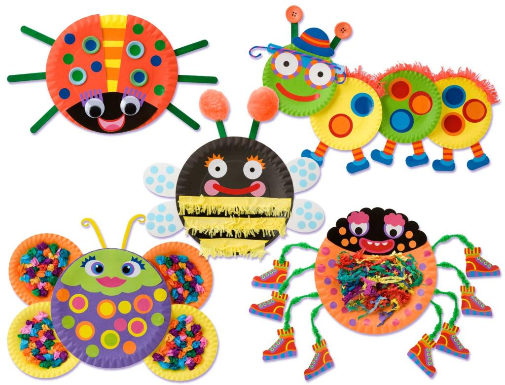 Make five funny looking bugs - ladybug, caterpillar, bee, spider and