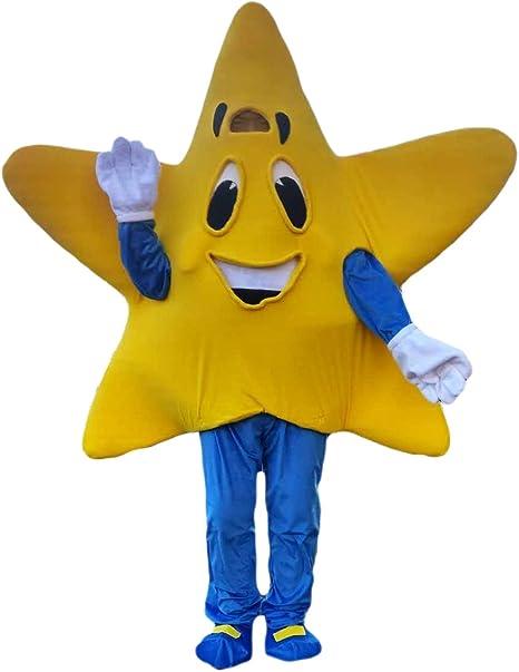 Disfraz de Mascota de estrella amarilla de cinco puntas, personaje ...