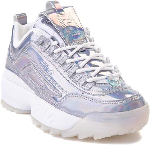 FILA Women's Disruptor II Iridescent White Sneaker