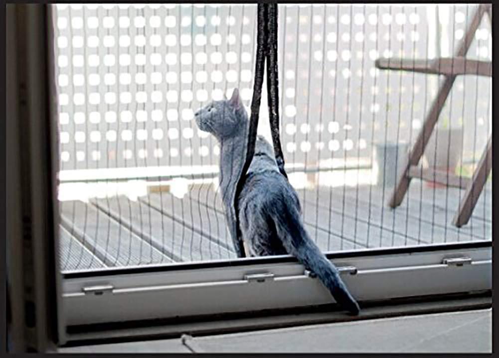 YXDDG Magnetische bildschirmt/ür Schwerer netzvorhang Katze Beweis klar Auto Garage vollformat Hund Glas Magnete schiebe-franz/ösischen Balkon-Grau 59x98inch