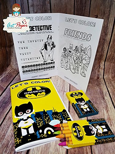 10 Batman Coloring Book With Personalized Crayons Party Favors We Make In Any Theme