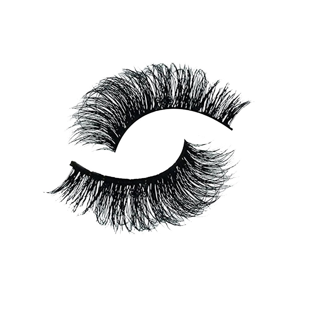 PEPECARE 1 Pair 3D Real Mink Fur Fake Eyelashes Natural Hand-made False Lashes Extension