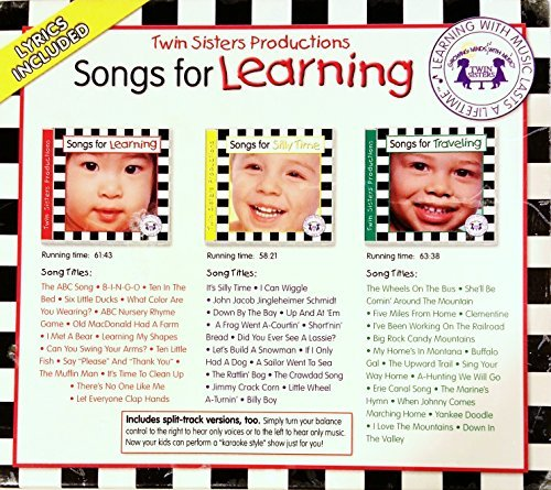 Songs for Learning, 3-Disc Boxed set: Includes Silly Time/Traveling/Learning